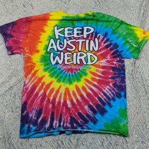 Keep Austin Weird Tie-Dye Tee - Amy's Ice Cream